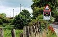 """Level crossing ahead"" sign, Moira - geograph.org.uk - 1965044.jpg"