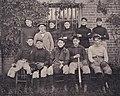 """PENNANT WINNERS OF 1898"" baseball team detail, Virginia Tech Bugle 1899 (page 141 crop).jpg"