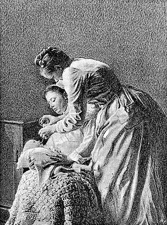 "Force-feeding - ""Gavage"" method of infant feeding used in France, late 19th century"