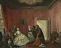 'Joanna en de 'smousen'; 3de bedrijf, 5de toneel uit het blijspel 'De Spilpenning of de verkwistende vrouw' van Thomas Asselijn Rijksmuseum SK-A-4209.jpeg