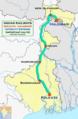 (Kolkata - Haldibari) Intercity Express route map.png