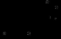 Strukturformel von L-Triiodthyronin