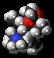 (S,S)-Alphacetylmethadol molecule spacefill.png