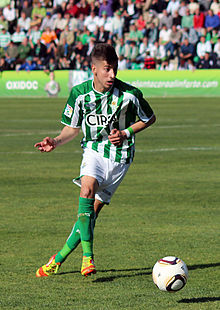 Vadillo playing with Betis