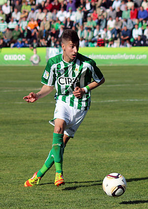 Álvaro Vadillo - Vadillo playing with Betis in 2012