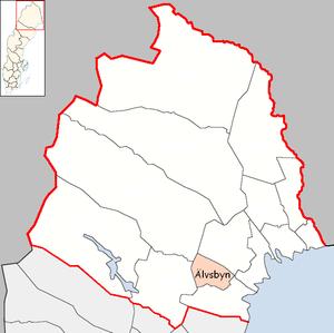 Älvsbyn Municipality - Image: Älvsbyn Municipality in Norrbotten County