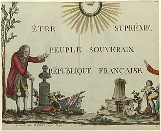 Religion in France - Standard of the Cult of the Supreme Being, one of the proposed state religions to replace Christianity in revolutionary France.