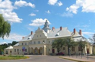 railway station in Żyrardów, Poland