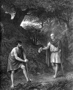 Apemantus - Timon and Apemantus (1873)
