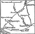 Карта к статье «Ирджар». Военная энциклопедия Сытина (Санкт-Петербург, 1911-1915).jpg