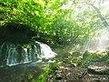 元滝伏流水と木漏れ日 (Mototaki Fukuryu-sui waterfalls) 23 Aug, 2014 - panoramio.jpg