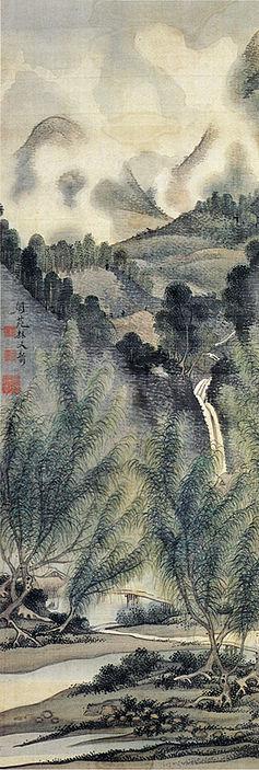 左)伏見桃山真景図 (中 ...
