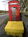 -2019-02-21 Defibrillator in an old red Telephone Box, Church street, Trimingham (2).JPG