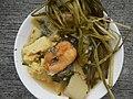 0099Nilagang repolyo, petsay Tagalog, kamote, patatas, kamatis at Pritong Dalag (Bulig) sa tanglad 27.jpg