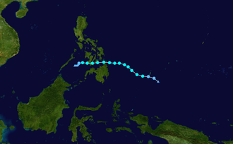 1954 Pacific typhoon season - Image: 01W 1954 track