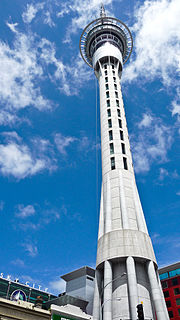 observation and communication tower in Auckland, New Zealand