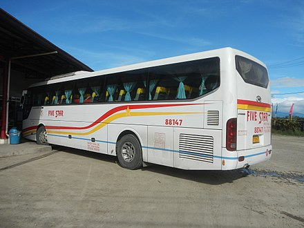 A Five Star Bus At P Engers Delight Bus Stop San Miguel Bulacan