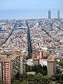 047 Blocs de Francesc Alegre i carrer Castilejos, des del turó de la Rovira.jpg