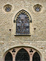 054 Castell de Santa Florentina (Canet de Mar), pati, façana de la capella.JPG