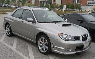 Subaru Impreza (second generation) - 2006–2007 Subaru WRX sedan (US)
