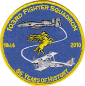 103d Fighter Squadron Inactivation Emblem