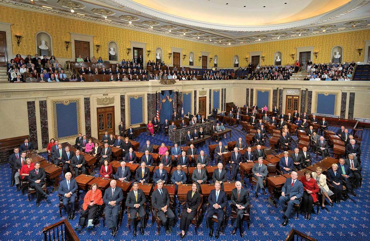 United States Senate Chamber Wikipedia - 2017 map of us senate