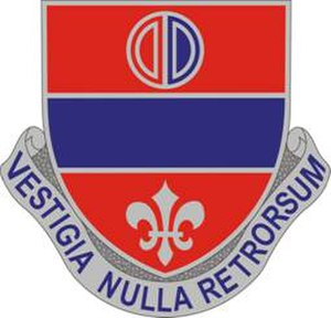 116th Field Artillery Regiment - Image: 116th Artillery DUI