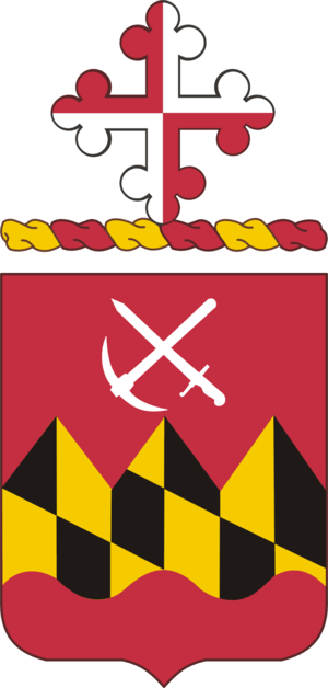 121st Engineer Battalion (United States) - Post-1948 coat of arms