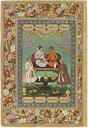 12 Abu'l Hasan Jahangir Welcoming Shah 'Abbas, ca. 1618, Freer Gallery of Art, Washington DC.jpg