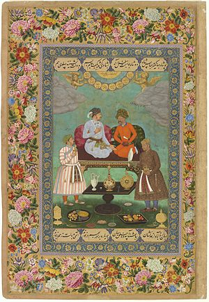 Abu'l Hasan. Jahangir Welcoming Shah 'Abbas, ca. 1618, Freer Gallery of Art, Washington DC