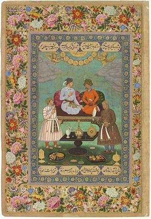 12 Abu'l Hasan Jahangir Welcoming Shah 'Abbas, ca. 1618, Freer Gallery of Art, Washington DC.jpg