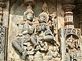 12th-century Vishnu and Lakshmi at Shaivism Hindu temple Hoysaleswara arts Halebidu Karnataka India 4.jpg