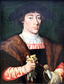 1528 van Cleve Bildnis eines jungen Mannes anagoria.JPG