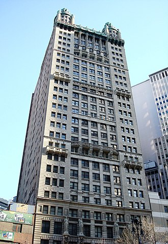 Park Row (Manhattan) - R. H. Robertson's Park Row Building at 15 Park Row, is a NYC landmark