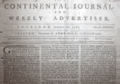 1783 Contintental Journal and Weekly Advertiser Boston January 16 detail.png