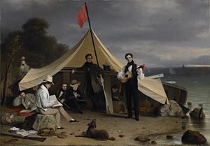 Robert Walter Weir - The Greenwich Boat Club, 1833, Princeton University Art Museum