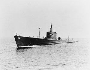 19-N-21882 USS Searaven during trials, 13 May 1940.jpg