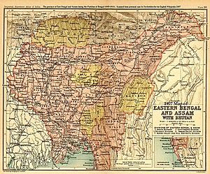 Northeast India - Eastern Bengal and Assam in 1907