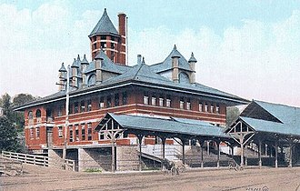 Allentown station (Lehigh Valley Railroad) - The station in 1912, looking from the southeast.