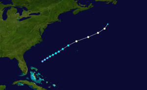 1925 Atlantic hurricane season - Image: 1925 Atlantic hurricane 1 track