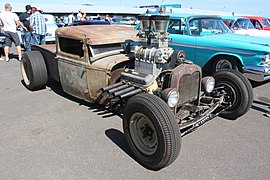1930 Ford Model A Pickup Rat Rod (23779577034).jpg