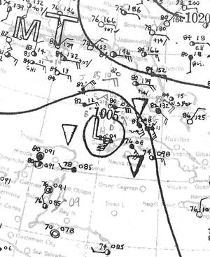 1933 Cuba–Brownsville hurricane - Image: 1933 cuba brownsville map