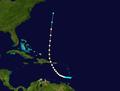1943 Atlantic hurricane 9 track.png