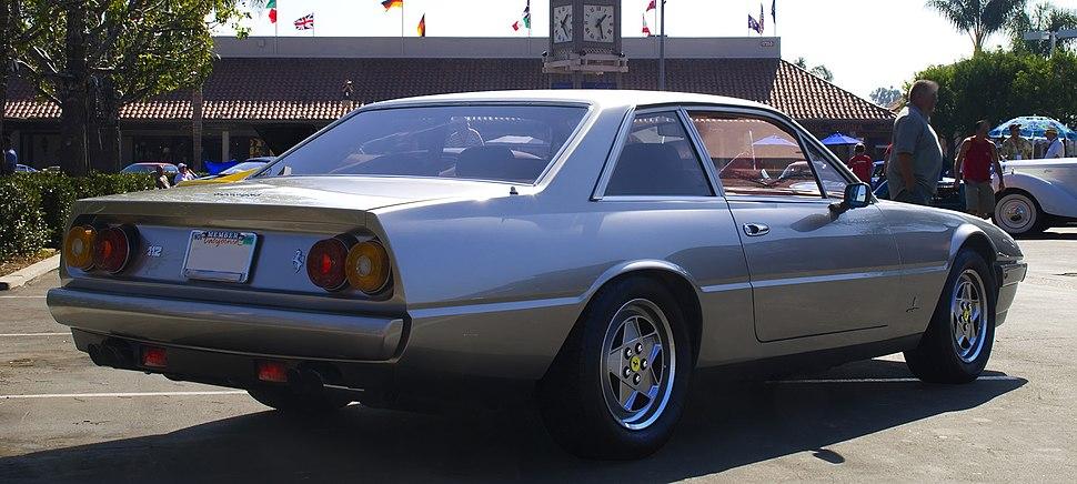 1988 Ferrari 412 rear