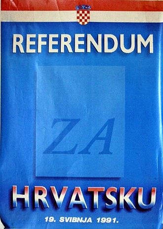 Franjo Tuđman - Poster for the 1991 Croatian independence referendum