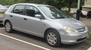Honda Civic (seventh generation) - Image: 2002 Honda Civic SE 1.6