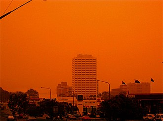 2003 Canberra bushfires - Woden Town Centre