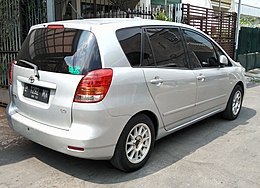 2004 Toyota Corolla Spacio (rear), Malang (cropped).jpg