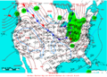 2005-01-19 Surface Weather Map NOAA.png