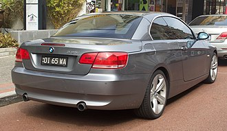BMW 3 Series (E90) - Convertible with folding hard-top unretracted
